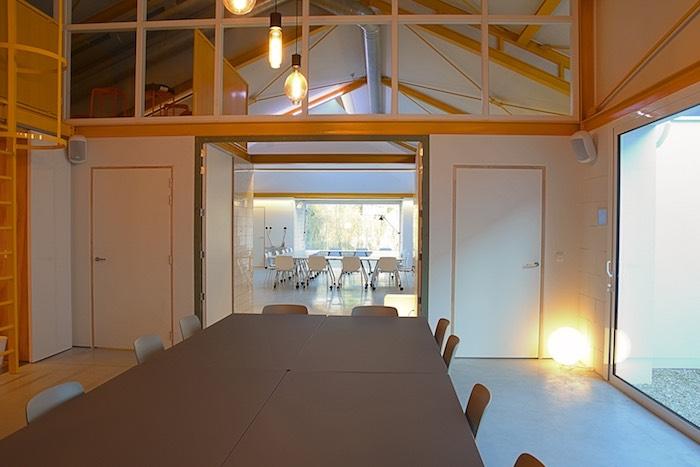 Inspirerend doorzicht van vergaderzaal nurture naar create