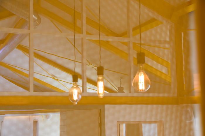 Detailed view of the light fixtures in meeting room nurture