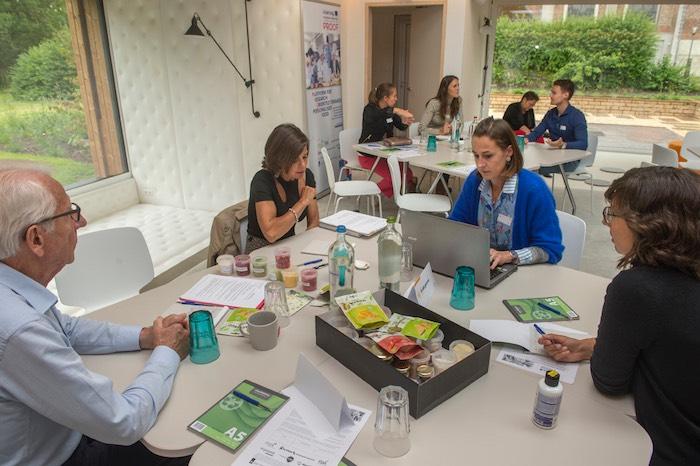 Creating and brainstorming in meeting room create