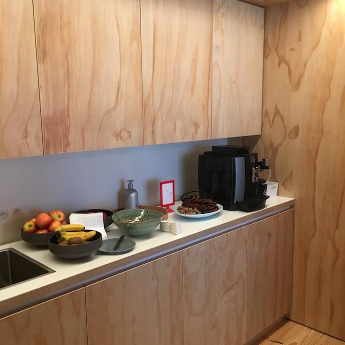De keuken bij vergaderzaal nurture en create